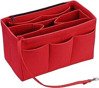 Felt Purse Organizer Insert with Built In Pouc Keychain Zipper Handbag Tote Bag Organizer Fit Speedy Neverfull