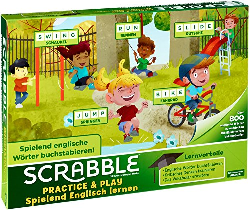 Mattel Games Scrabble Practice and Play, Juego de Mesa Infantil Educativo (Mattel...