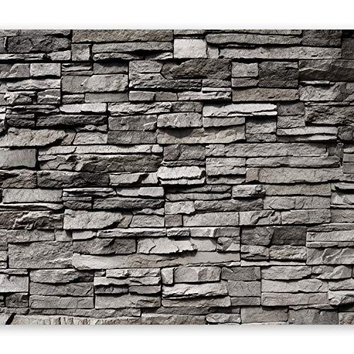 murando Fototapete Steinwand 450x315 cm Vlies Tapeten Wandtapete XXL Moderne Wanddeko Design Wand Dekoration Wohnzimmer Schlafzimmer Büro Flur Steintapete Steine Stein Mauer Steinoptik 3D f-B-0020-a-a