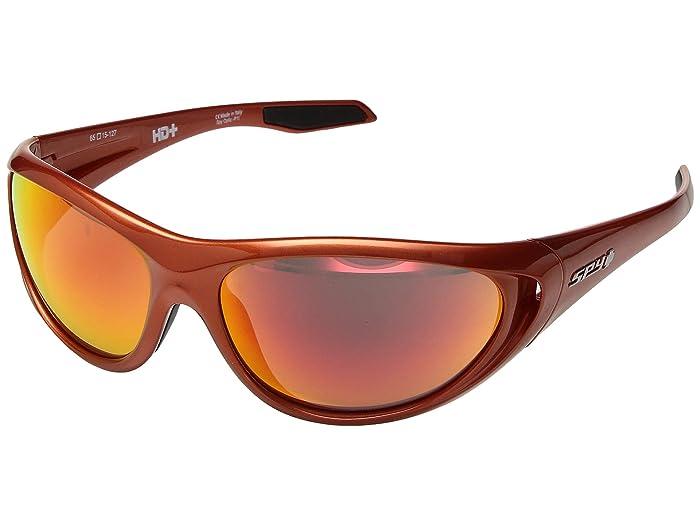 Spy Optic Scoop 2 (Metallic Orange/HD Plus Green/Orange Spectra Mirror) Athletic Performance Sport Sunglasses