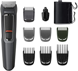 Philips MG3747/15, 9-in-1, Face, Hair and Body - Multi Grooming Kit. Self Sharpening Stainless Steel Blades, No Oil Neede...