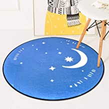 Round Warm Rugs Bedroom Living Room Sofa Carpet Coral Fleece Children Crawling Game Pad 60-180Cm,1,100 * 100cm