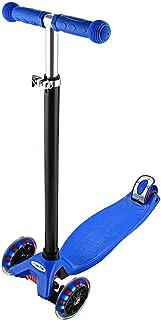 comprar comparacion Profun Patinete de 3 Ruedas Scooter con Led Luces Manillar Altura Ajustable 57cm-69cm con Freno Posterior para Niños