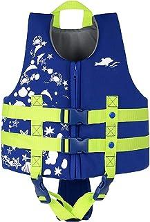 IvyH Chaleco de natación para niños - Niños Chaleco de Chaqueta Flotante Chaleco de natación Flotante Traje de baño Chaleco de flotabilidad Chaleco de Ayuda a la natación