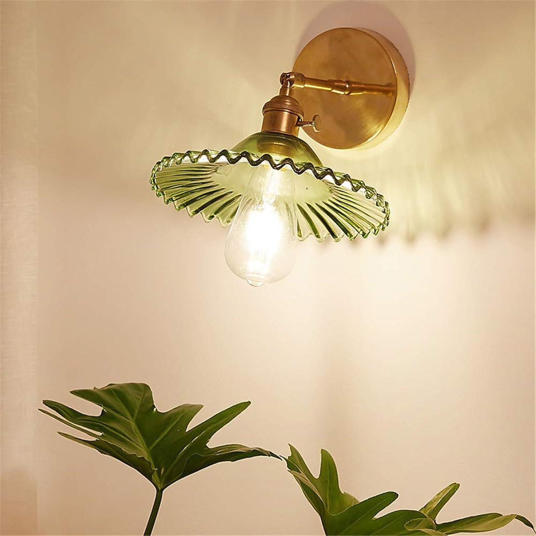 Aussenlampe Wandbeleuchtung Wandlampe Wandleuchte Innen 22X6Cm Modernes Japanisches Messingglas B & B Erkerfenster