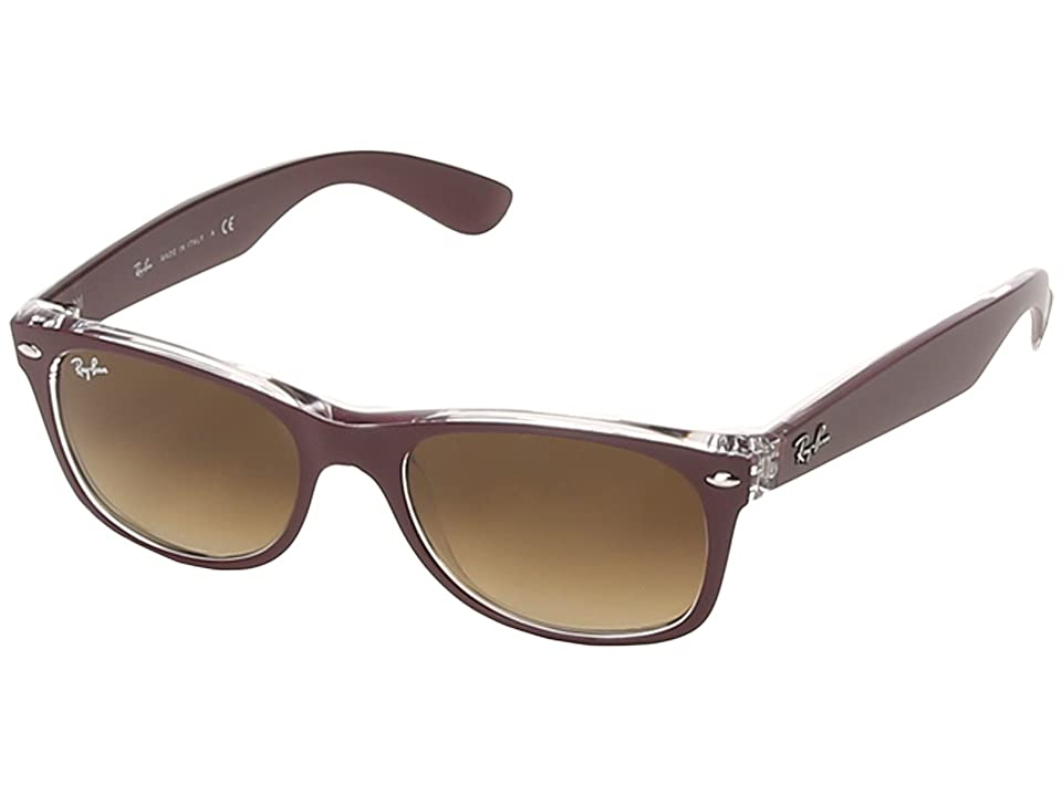 Ray-Ban RB2132 New Wayfarer 52mm (Matte Bordeaux) Sport Sunglasses