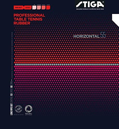 STIGA(スティガ) 卓球 ラバー 粒高ラバー ホリゾンタル 55 ブラック OX(スポンジ無し) 1711550101