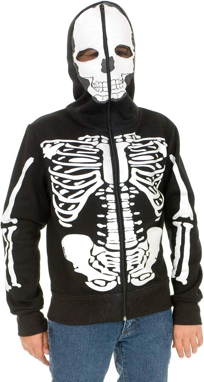 Charades Skeleton Hoodie Manufacturer OFFicial shop Children's Sweatshirt Costume Cheap bargain Black Wh