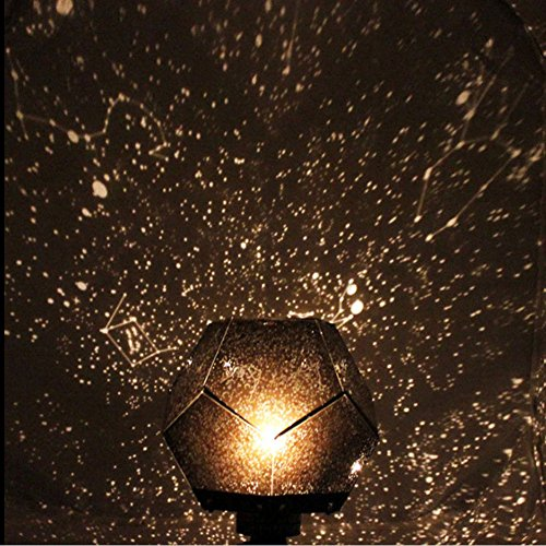 Nuohuilekeji romantique Galaxy Vidéoprojecteur étoile Ciel étoilé Cosmos Nuit lampe lumiere DIY Kit cadeau