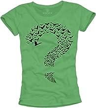 MAKAYA Women's T-Shirt Question Mark Bats