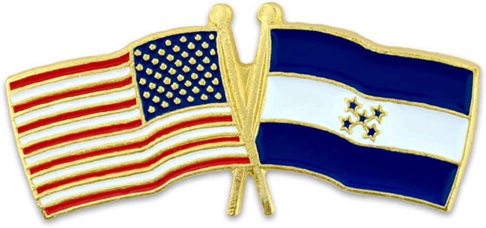 PinMart USA and Honduras Flag Pin