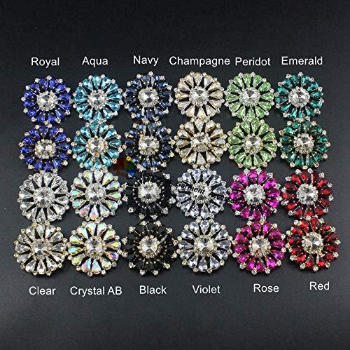 royal blue crystal browband - 2