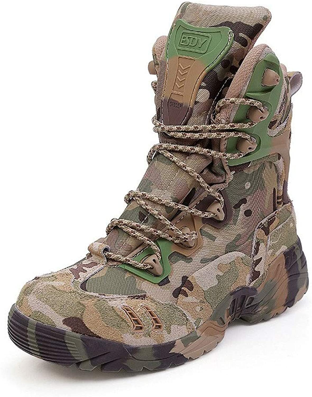 schuheDQ Herrenstiefel Desert Tactical Stiefel Camouflage Outdoor-Stiefel Wanderschuhe sicherer Komfort