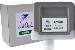 InkOwl Compatible Ink Cartridge Replacement for Canon PFI-301G (330ml, Green) for iPF8000, iPF8100, iPF9000, iPF9100 Printers