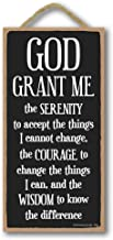Honey Dew Gifts Religious Decor, God Grant Me The Serenity 5 inch by 10 inch Hanging Wall Art, Decorative Wood Sign Home Decor