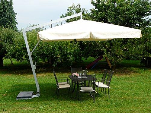 Maffei Fibrasol Silver Parasol Déporté Rectangulaire 3X4 m