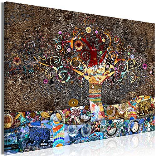 murando Cuadro en Lienzo Gustav Klimt 120x80 cm Impresion en Material Tejido no Tejido artística fotografía Imagen gráfica decoración de Pared Arbol Abstracto l-A-0050-b-a