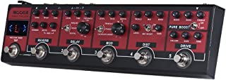 Muslady MOOER RED TRUCK Effect Pedal Boost + Overdrive + Distortion + Modulation + Delay + Reverb 6-in-1 Combined Built-in...