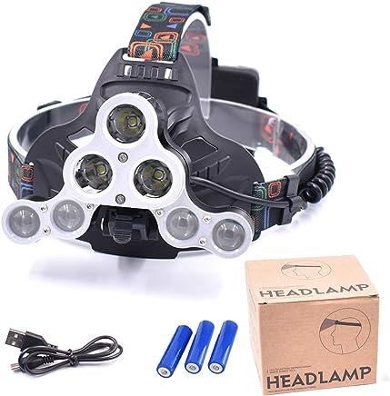 Head Flashlight 7LED Scheinwerfer Super helle USB-wiederaufladbare Scheinwerfer, 4 4 4 Modi für Jagdjagd - leistungsstarker Strahl für Kinder und Erwachsene, einschließlich Batterien B07Q7TRPJT     | Online Outlet Store  cecc71