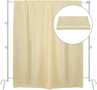Meking 6.6 x 8.2 ft Photography Background Cloth, Polyester Background Backdrop Screen for Portrait Photo Studio Booth, Video and Portrait - Light Yellow