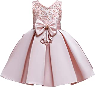KYMIDY Flower Girl Dress Kids Princess Pageant Ball Gown Elegant Girls Party Dresses(4-8yrs)