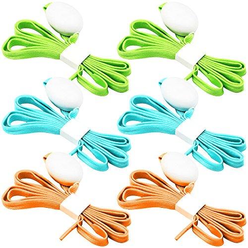 FineGood 3 Pack Light Schnürsenkel, Nylon Schuhe Schnürsenkel mit Vier blinkenden Modi für Tanzen Hip-Hop Radfahren Laufen Wandern Skating Sport - Blau, Orange, Grün