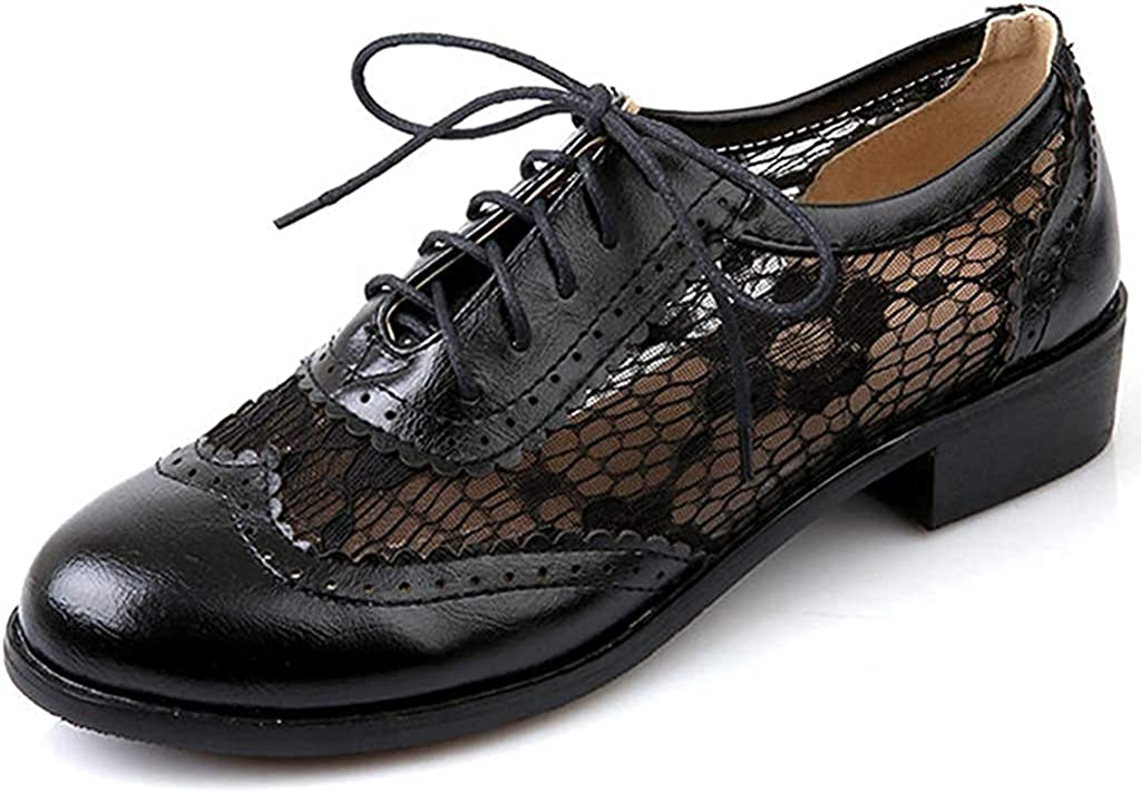 Women's Vintage Flat Oxfords Brogues lowest price Chiffons T PU Brand Cheap Sale Venue Leather Round