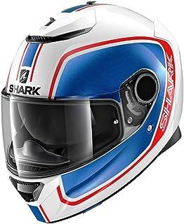 Shark Casco integral Spartan Priona blanco azul rojo Wbr ...
