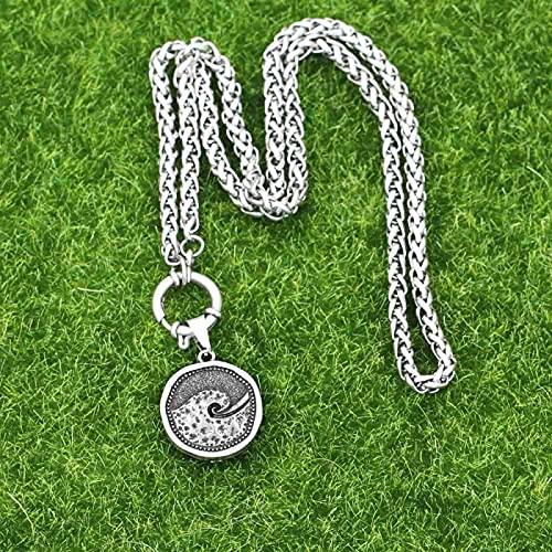 Aldevins&Granger Collar Colgante Cadena NuevoColgante Vintage Ocean Beach Jewelry Surf Spiral Vocation Peeling Wave Collares A280Twistchain
