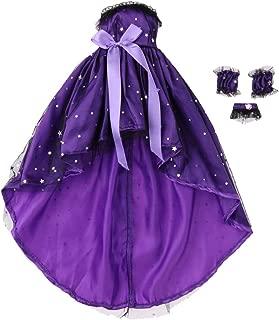 1/3 BJD Dress Purple Lolita Dress with Big Long Tail for Night Lolita Doll