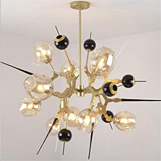 Chandelier, Creative Glass Lampshade 5 Lights Chandelier Industrial Molecular Pendant Lamp Loft Bar Dining Room Ceiling Li...