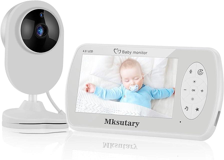 Cámara vigilancia bebe Vigilabebés Inalambrico con cámara Bebé Monitor Inteligente con Pantalla LCD de 4.3