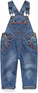 لباس کودکان و نوجوانان Kidscool ، دکوراسیون گل و جیب Big Bib Jeans