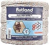 Rutland 19-189R Fil de clôture électrique tressé pour élevage/agriculture urbaine...