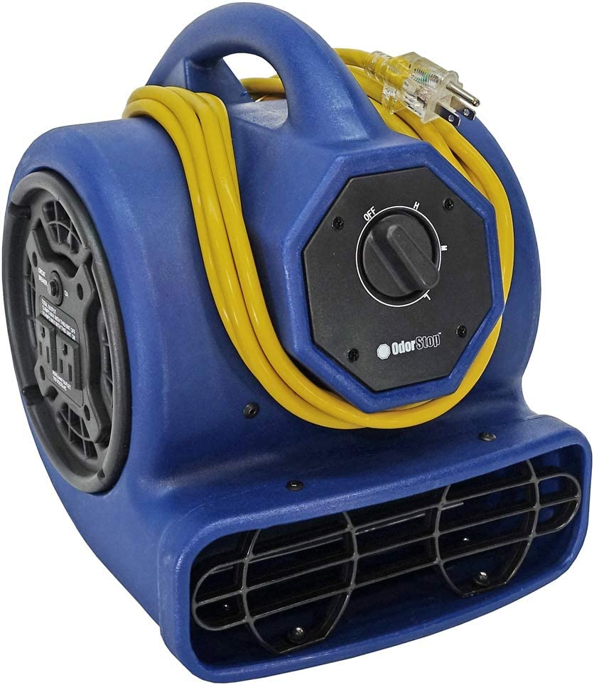 OdorStop Heavy Award-winning store Duty Air Mover 3-speed Cord Power Yellow High material w with