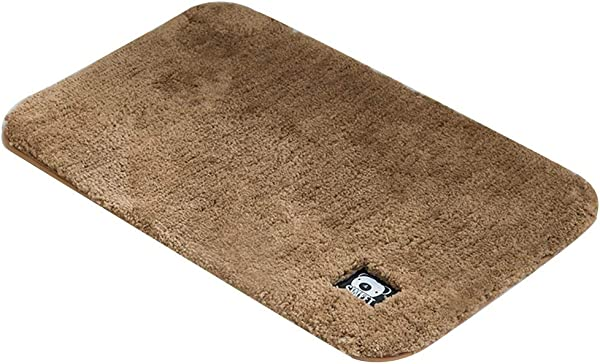 Bath Mat Kids Bath Rugs Bath Mat Rug Bathroom Carpet Entering The Door Foot Pad Household Non Slip Mat Pure Color Fluff Thicken Water Absorption WEIYV Color Champagne Size 5080cm