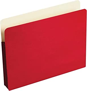 Wilson Jones ColorLife 扩展文件袋,3.5 英寸扩展,11 x 8.5 英寸纸张尺寸,红色,100 支 (WCC64R)