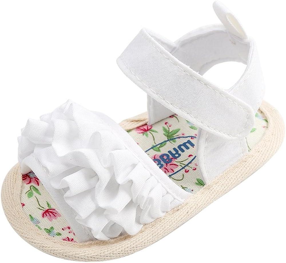 ESTAMICO Baby Girls Summer Shoes Infant Sandals Soft Sole Anti-Slip First Walkers Beach Sandals