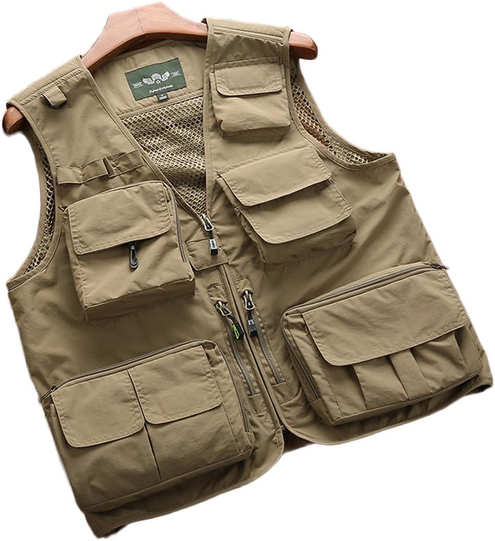 Gilet Waistcoat Vest Fishing MultiPocket Vest, Outdoor QuickDrying Vest Men, Thin Coat Vest Vest