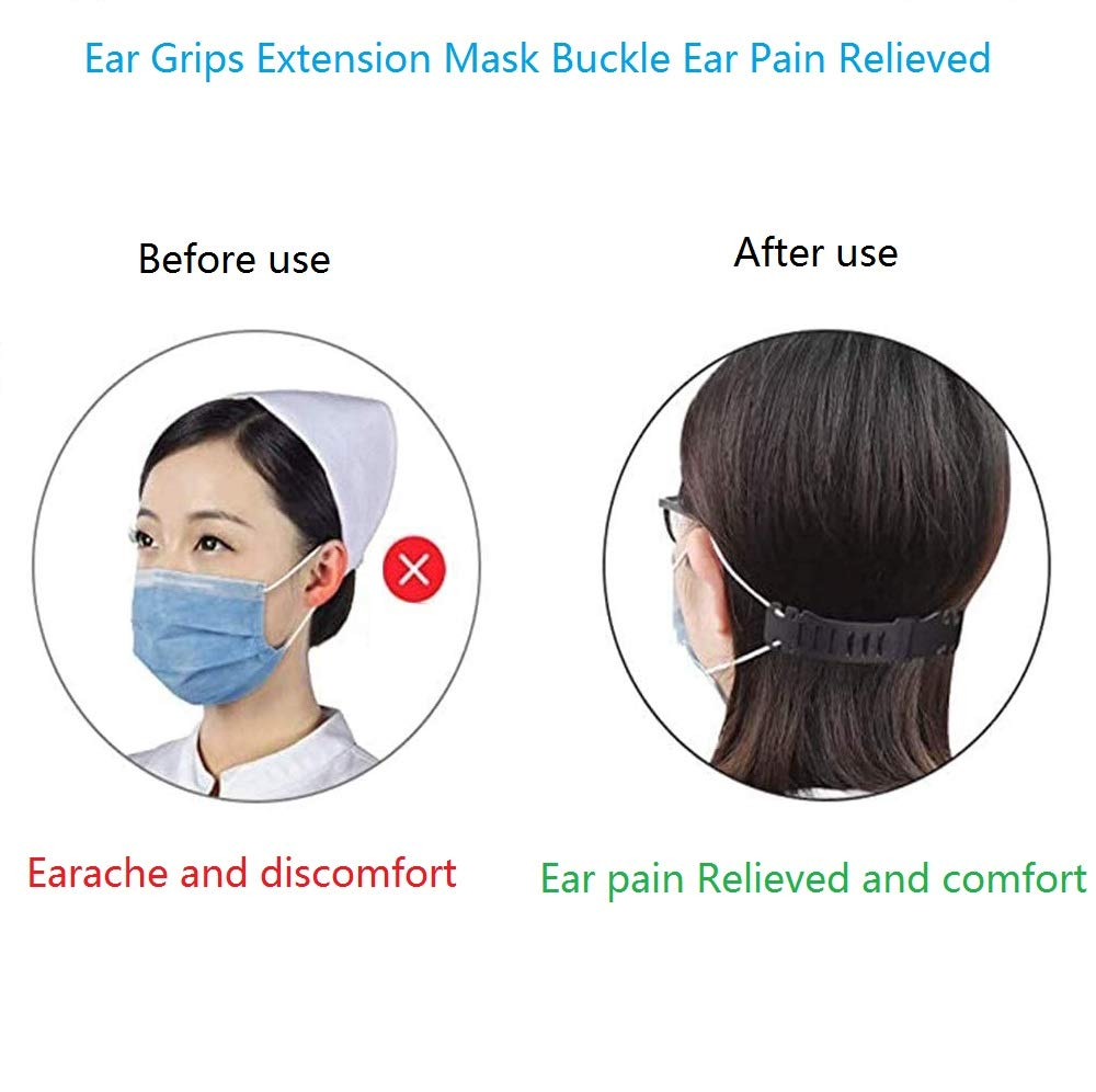 Anti-Tightening Ear Protector Decompression Holder Hook Ear Strap Accessories Ear Grips Extension Mask Buckle Ear Pain Relieved Zhongmin Mask Belt Buckle