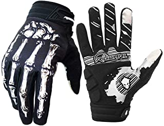 Easetech Cycling Gloves for Men Women, Bike Gloves Touchscreen, Motorcycles Riding, MTB, Road Bike Skeleton Bones Gloves