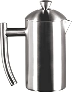 Frieling USA Double Wall Stainless Steel French Press Coffee Maker with Zero Sediment Dual Screen, Brushed, 8-Ounce