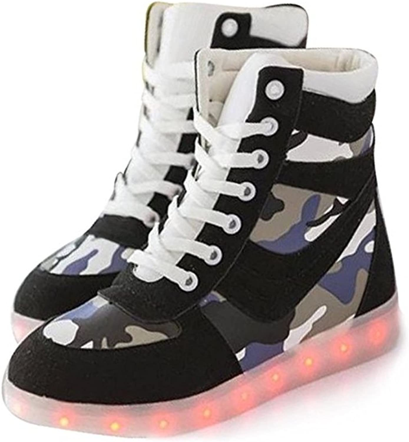 Southed High Top LED shoes Light Up USB Charging Boots Flashing Sneakers for Men Women