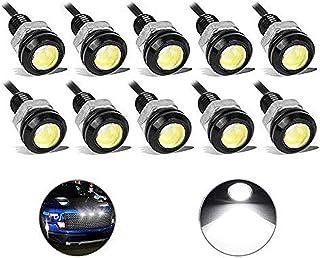 10Pcs alta potenza Amber 9W LED Eagle Eye Ammortizzatore DRL nebbia luce di giorno del motociclo brillante Positions della coda di sostegno della luce auto del motore