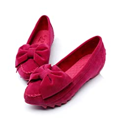 f0300e269c8 Doris Women s Round Toe Within The Increase Nubuck Bowknot Ca .