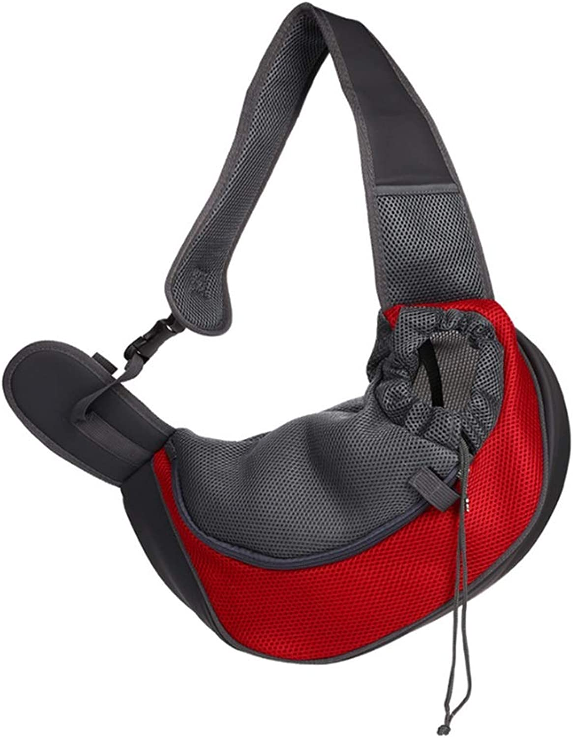 Dog Carrier Pet Backpack Outdoor Travel Breathable Mesh Shoulder Bag Sling Bag (bluee + Red)