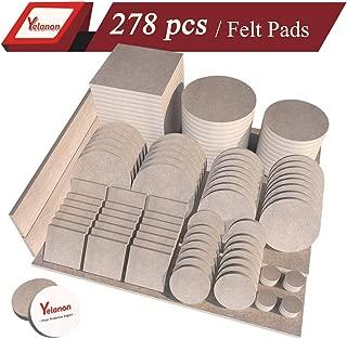 Yelanon Furniture Pads 276Pieces - Self Adhesive Felt Pad Brown Felt Furniture Pads Anti Scratch Floor Protectors for Chair Legs Feet for Protect Hardwood Tile Wood Floor & Laminate Flooring