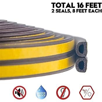 4 Rolls Adhesive Foam Tape Foam Seal Tape Foam Tape Weather Stripping Foam Weather Stripping Rubber Foam Weather Strip Seal for Window and Door Total 65.5 feet 1//4 x65.5Feet , Yellow T L x1//8 W
