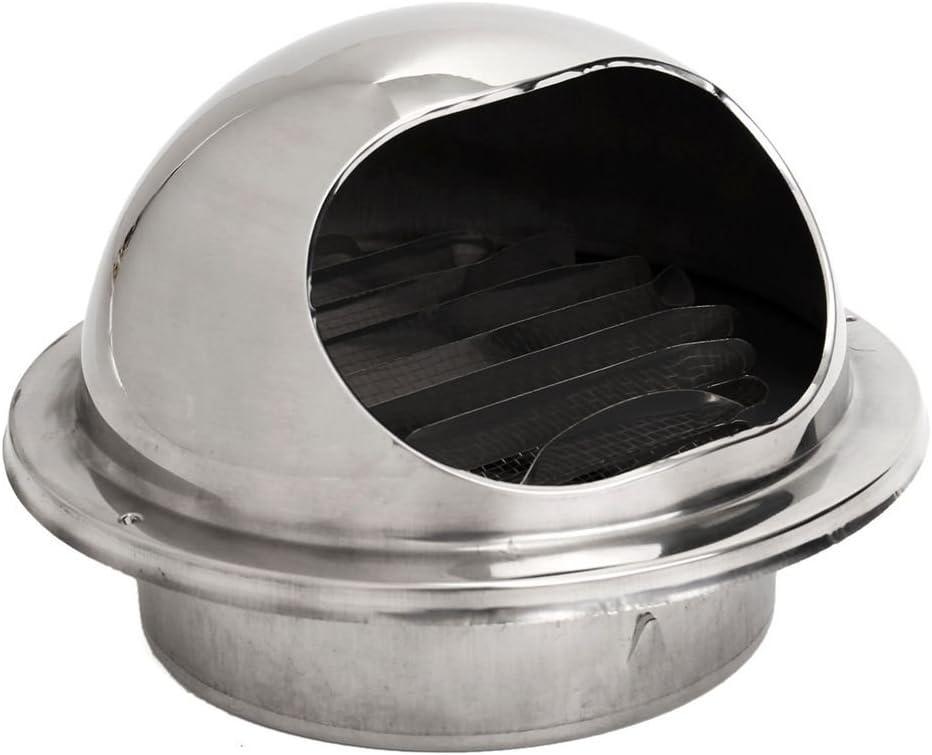 Gaoominy Stainless Conducto de Ventilación de Pared de Ventilación de Aire Extractor de Escape Canalización 80 Mm