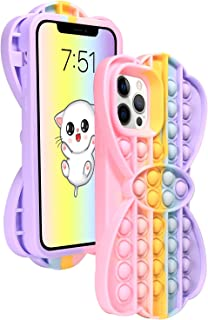 Fidget Toy Case for iPhone Xs Max - Pop Cute Bubble Protecive Phone Case with Anti-Anxiety Push Bubble Silicone Rubber & S...